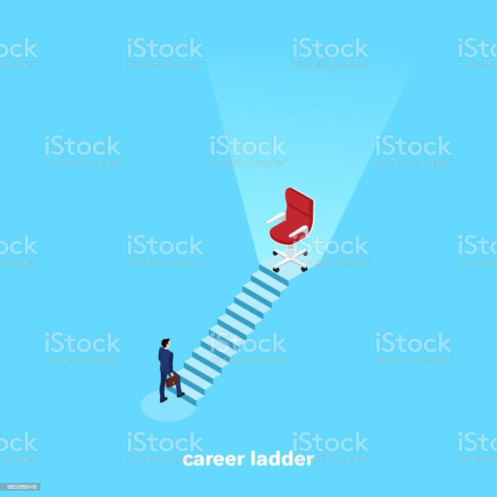 career ladder vector art illustration