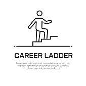 istock Career Ladder Vector Line Icon - Simple Thin Line Icon, Premium Quality Design Element 1147315400