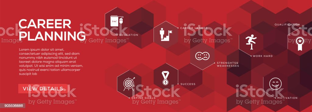 Career Planning Banner Design vector art illustration
