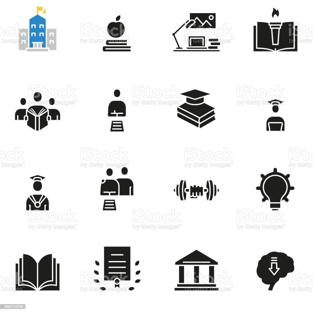 Karrierefortschritt Menschen Ausbildung Beratung Service Symbole ...
