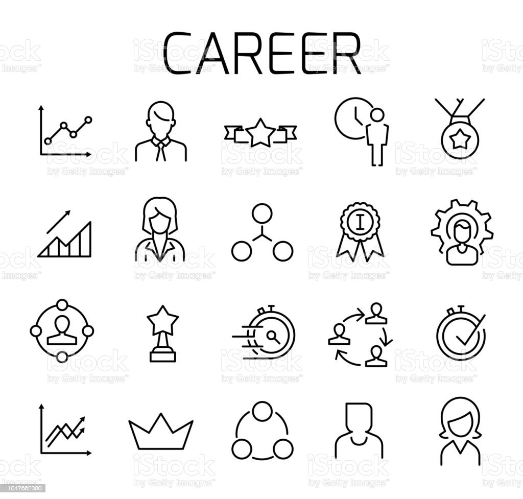Career related vector icon set. vector art illustration