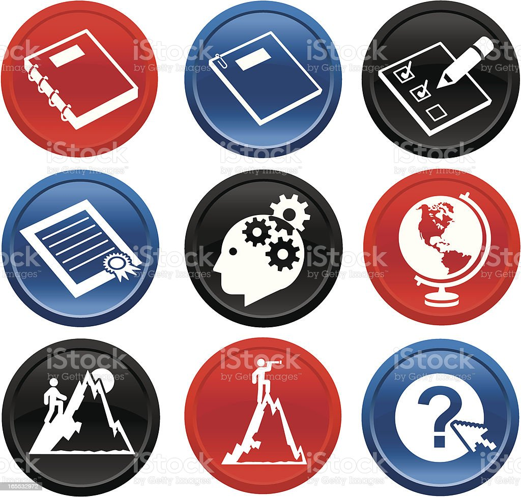 Careers & Documents Icons on buttons royalty-free careers documents icons on buttons stock vector art & more images of advice