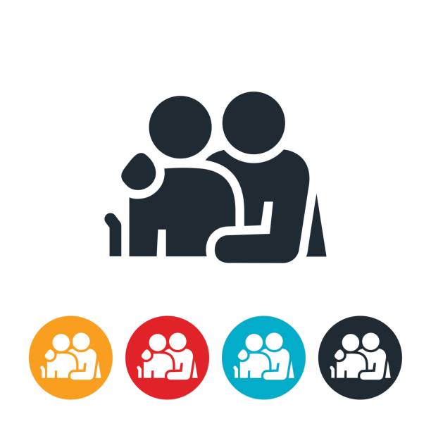 caregiver icon - care home stock illustrations