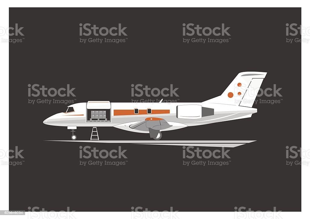 Cargo aircraft vector art illustration