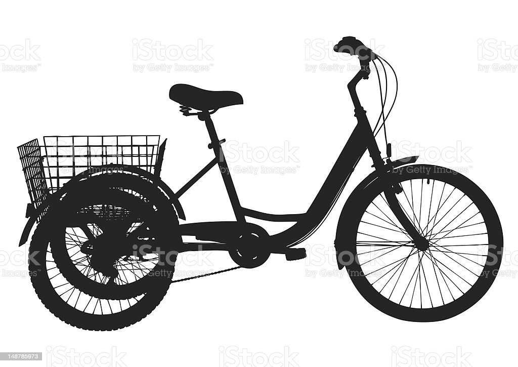 Cargo Bicycle royalty-free cargo bicycle stock vector art & more images of basket