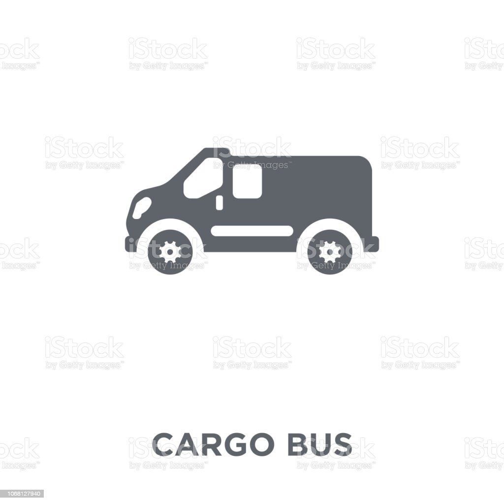 Cargo Bus icon from Delivery and logistic collection. vector art illustration