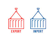 istock cargo container like export and import 1270750930