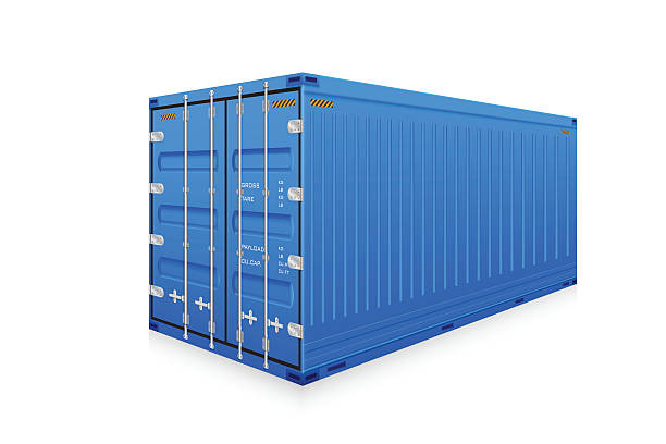Cargo container Vector of cargo container isolated on white background. container stock illustrations