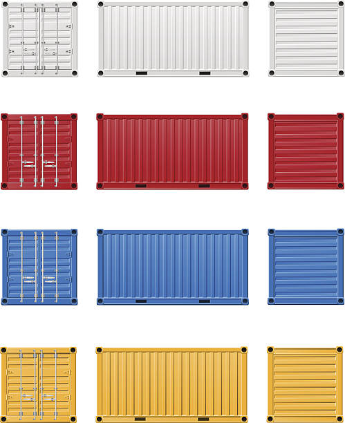 cargo container vector illustration cargo container vector illustration isolated on white background container stock illustrations