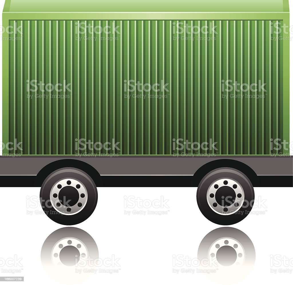 Cargo containers on Wheels royalty-free stock vector art