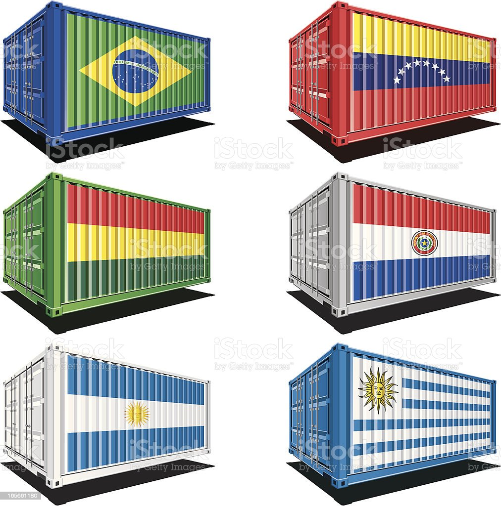 Cargo containers with flag designs royalty-free cargo containers with flag designs stock vector art & more images of argentina
