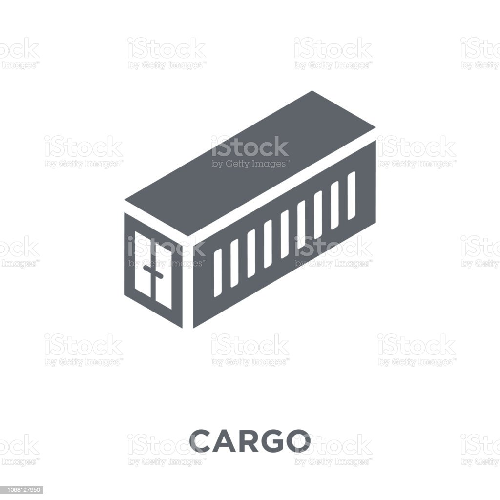 Cargo icon from Delivery and logistic collection. vector art illustration