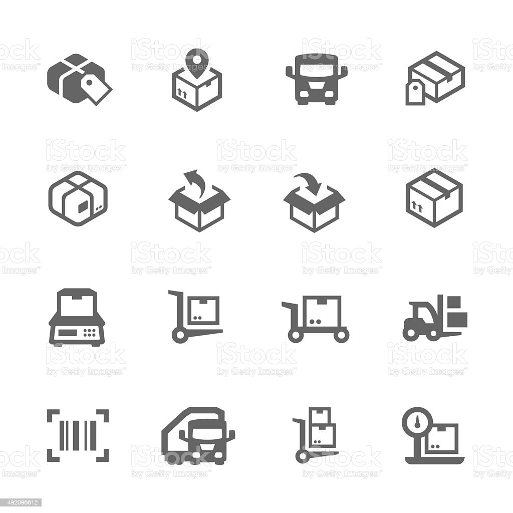 Cargo Icons vector art illustration