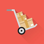 Cargo Package Flat Icon