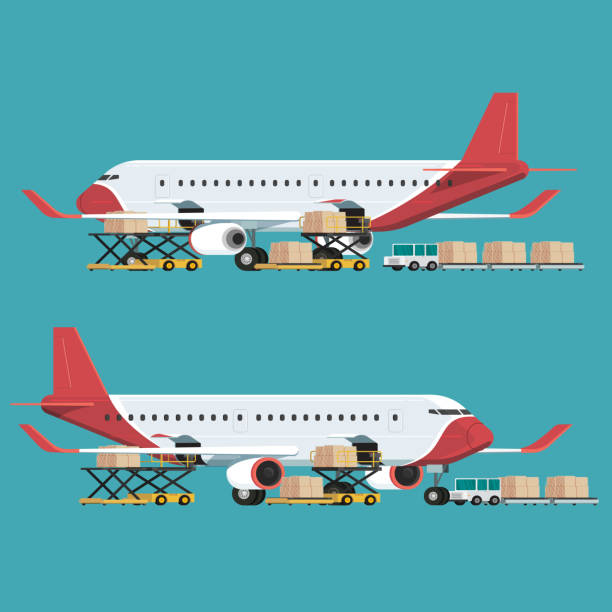 Royalty Free Cargo Airplane Clip Art, Vector Images ...