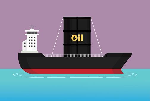 Cargo ships carry a crude oil