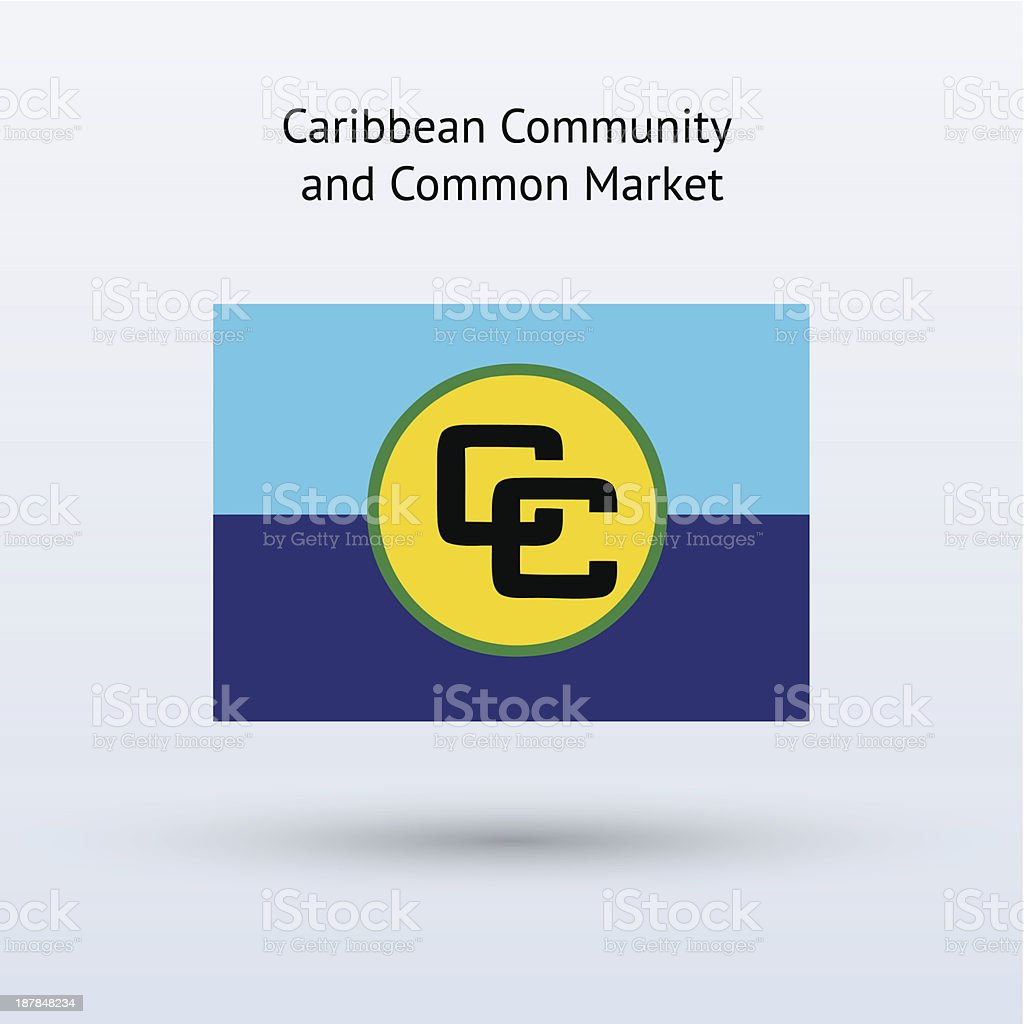 カリブ共同体の旗 - イラストレ...