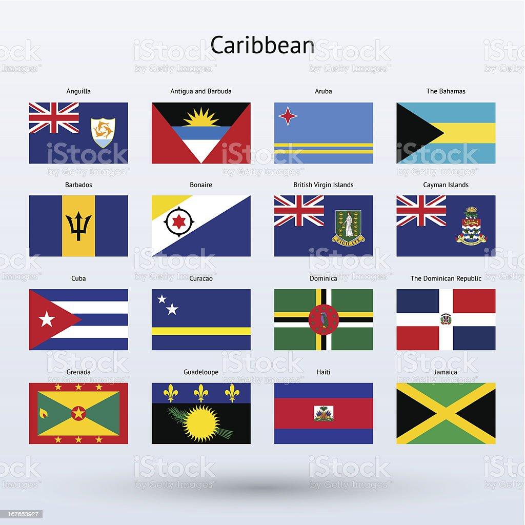 Caribe Banderas colección (parte 1 de 2) - ilustración de arte vectorial