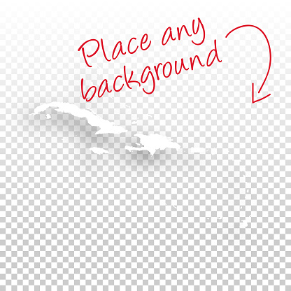 Caribbean Map for design - Blank Background