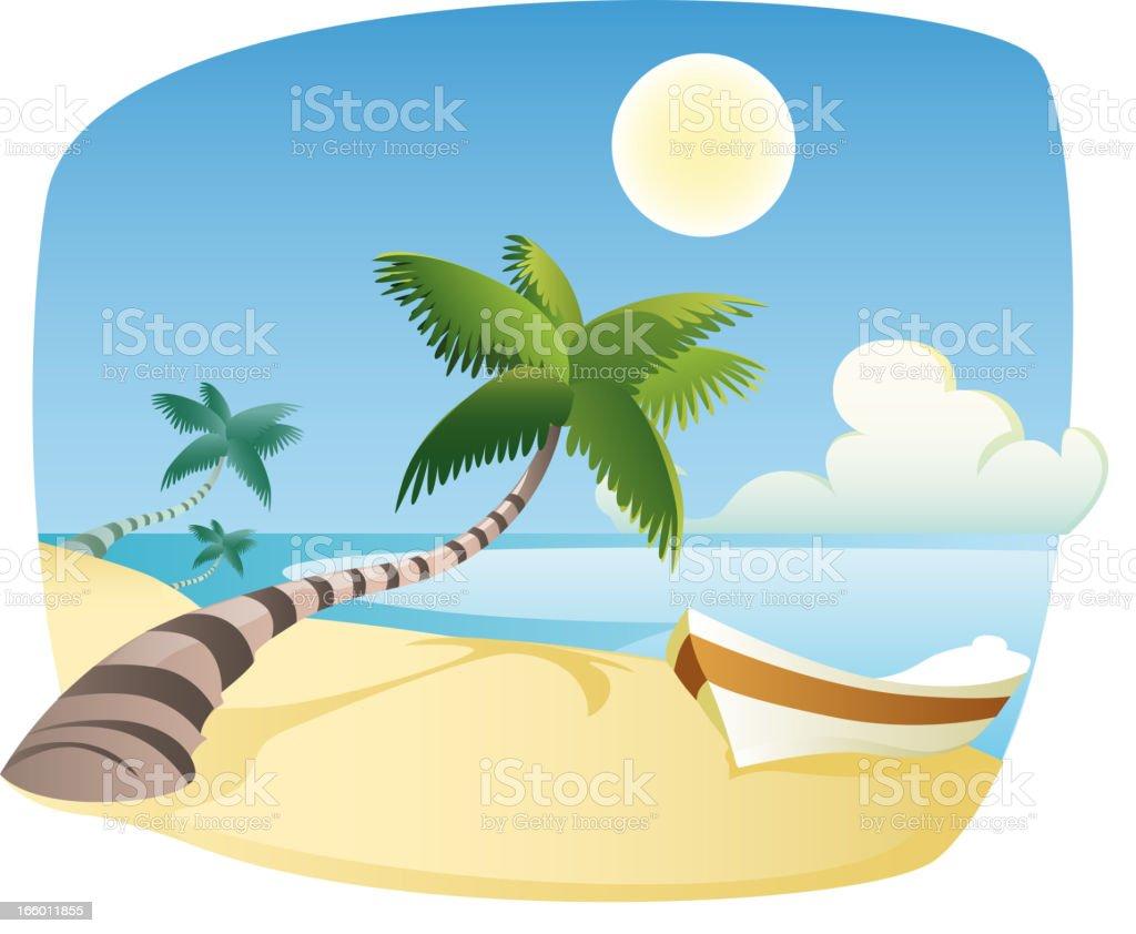 Caribbean scene. royalty-free stock vector art