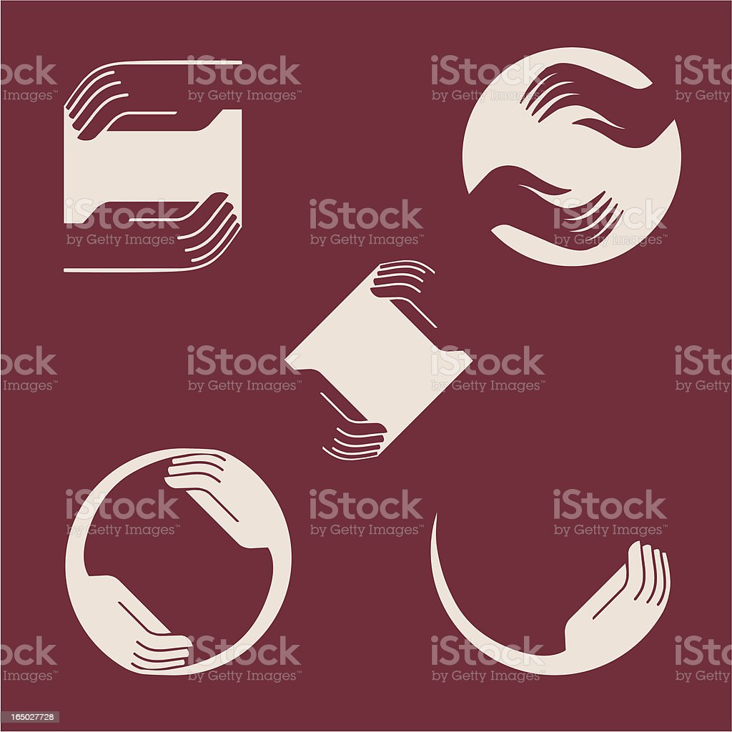 Caring Hands - Vector vector art illustration