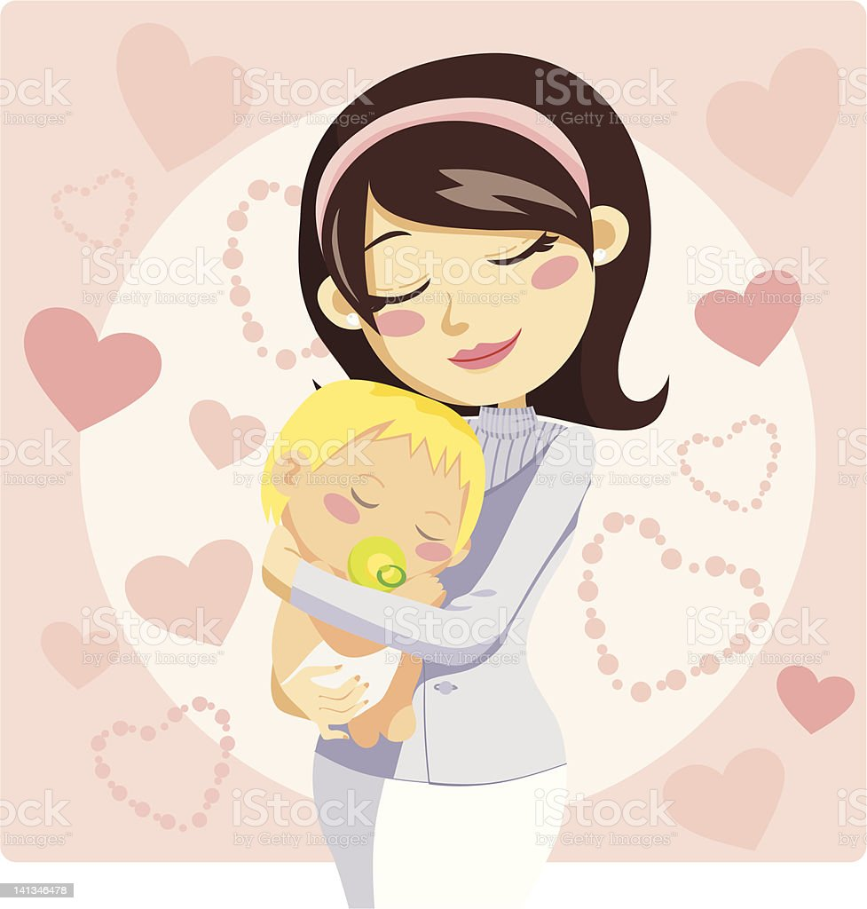 Caring Mother royalty-free caring mother stock vector art & more images of adult