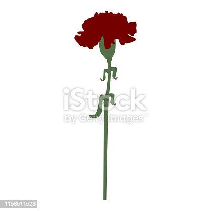 Carnation flower  red color One items  Simple style