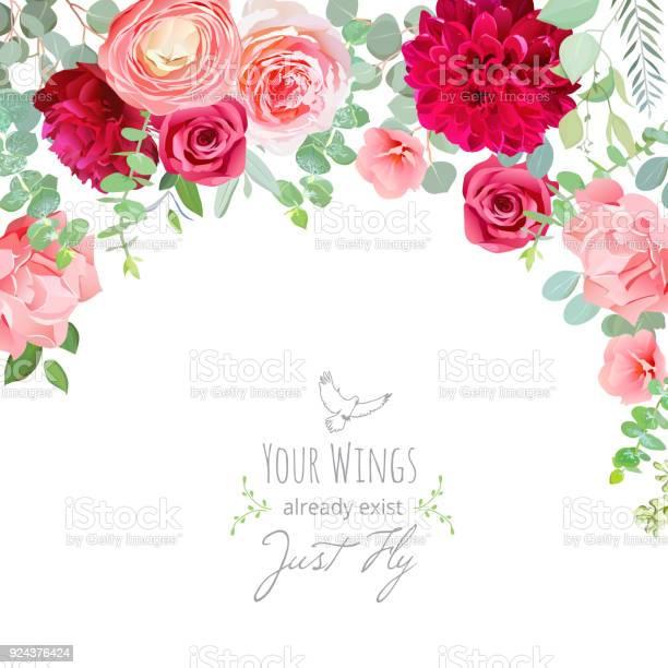 Carnation rose ranunculus dahlia pink and burgundy red flowe vector id924376424?b=1&k=6&m=924376424&s=612x612&h= ifzxkgrnstpk8yft2qun9rjjrgjo7nhx0kt8bvvscg=
