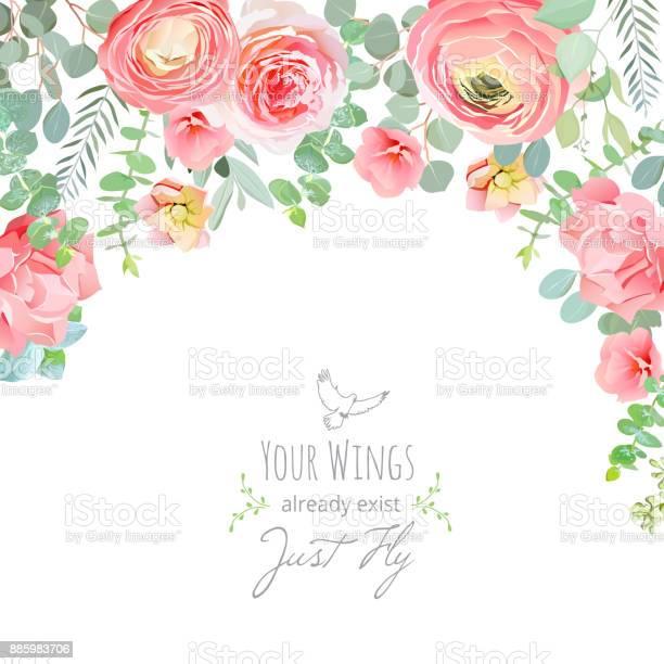 Carnation rose ranunculus pink and peachy flowers card vector id885983706?b=1&k=6&m=885983706&s=612x612&h=xyffqldrnp8ersq8hcjdhbdf942zt3p9il9cvtcpee4=