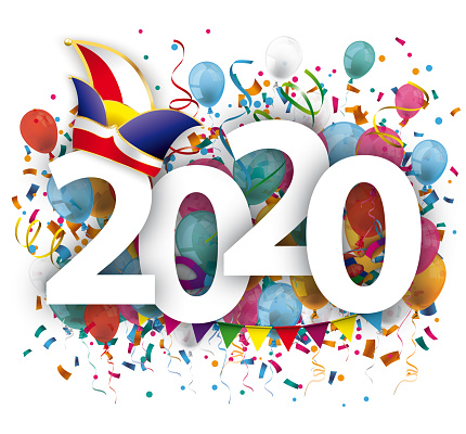 Carnival 2020 Balloons Confetti