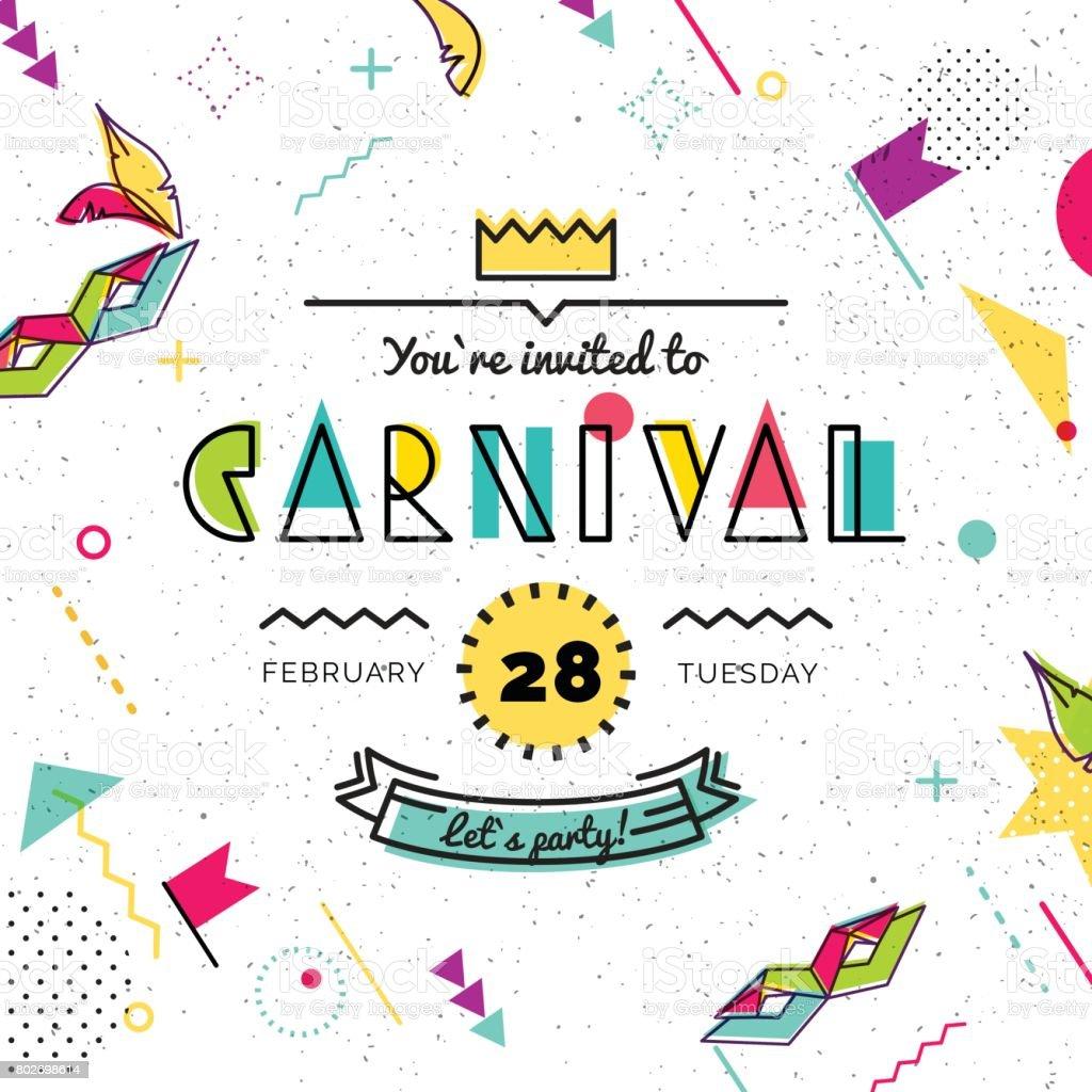 Antecedentes carnaval estilo. - ilustración de arte vectorial