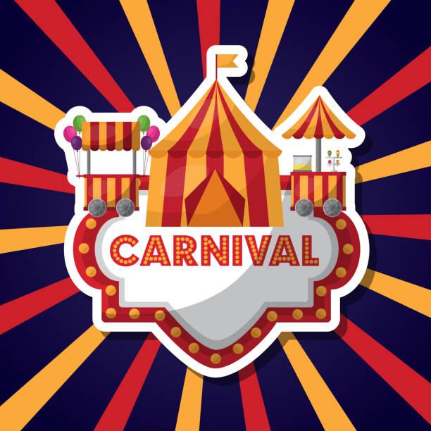 Parque de atracciones de carnaval - ilustración de arte vectorial