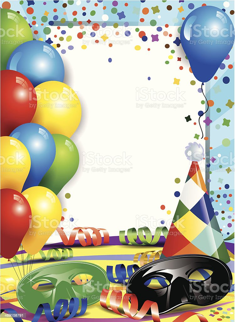 Carnival and confetti royalty-free stock vector art