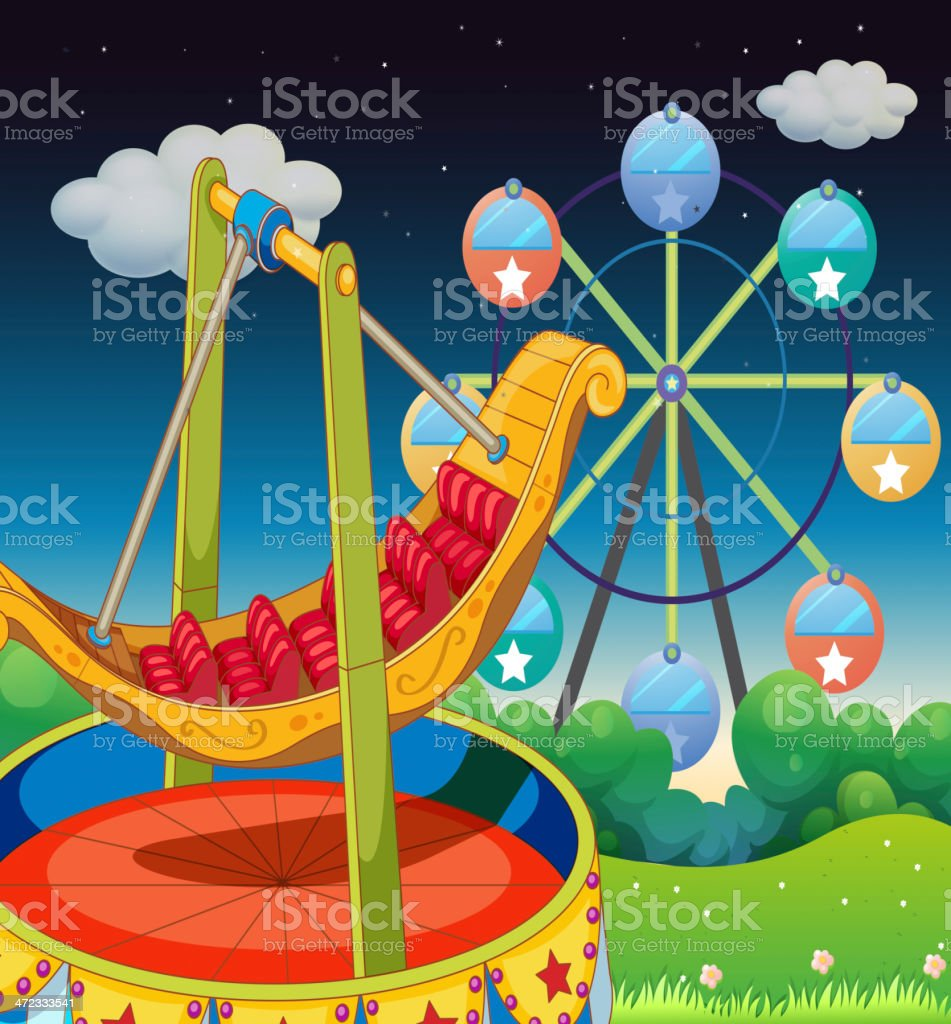 Carnival at the hill royalty-free carnival at the hill stock vector art & more images of amusement park ride