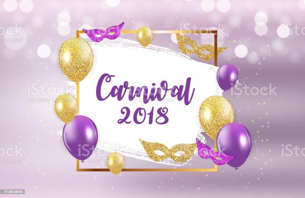 carnival brochure template for brazil carnival in south america celebration greeting card backround vecor