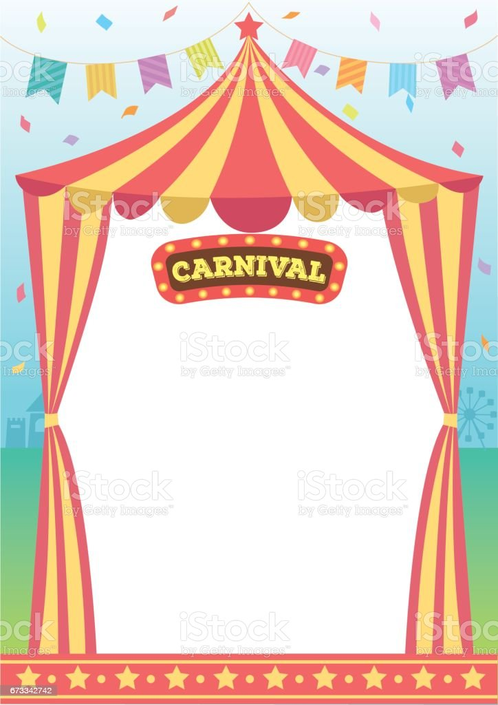 carnival circus template stock vector art more images of amusement