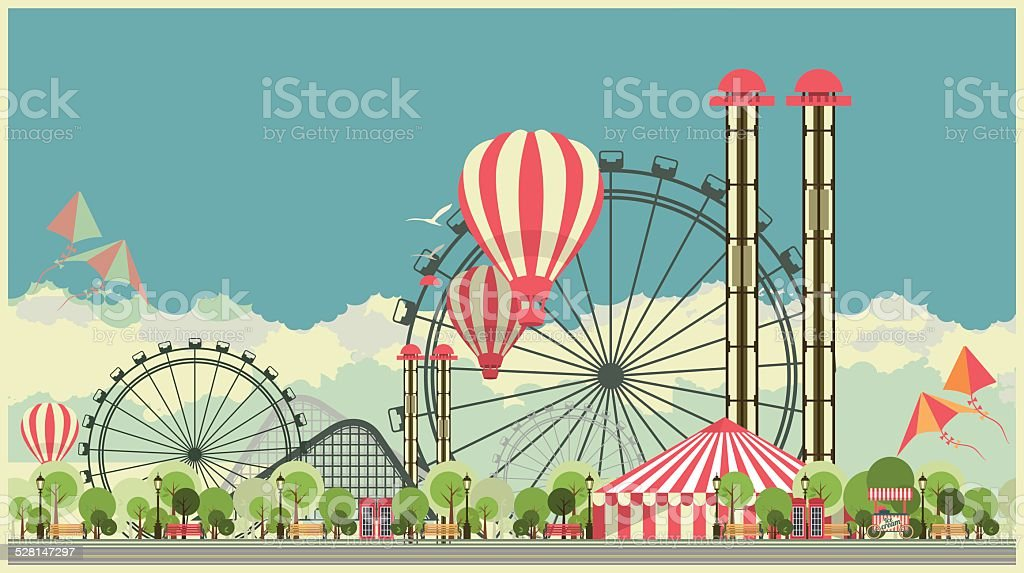 royalty free amusement park clip art vector images illustrations rh istockphoto com amusement park clipart images amusement park clipart free