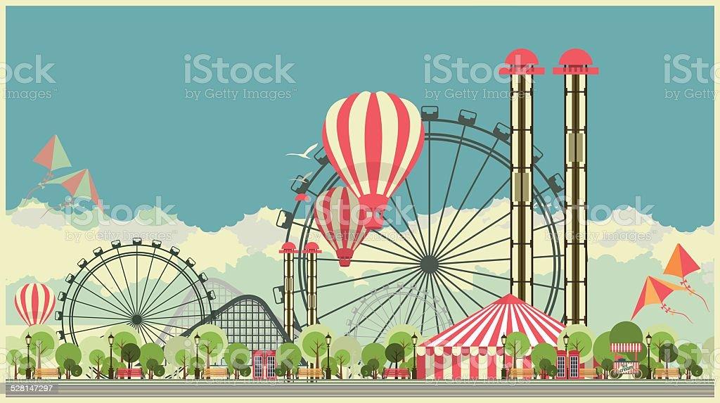 Carnaval City Park - Illustration vectorielle