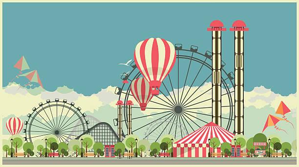 Carnival City Park vector art illustration