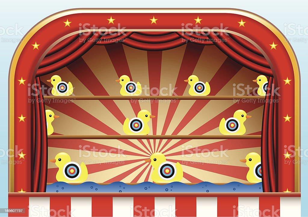 Carnival Duck Shoot royalty-free stock vector art