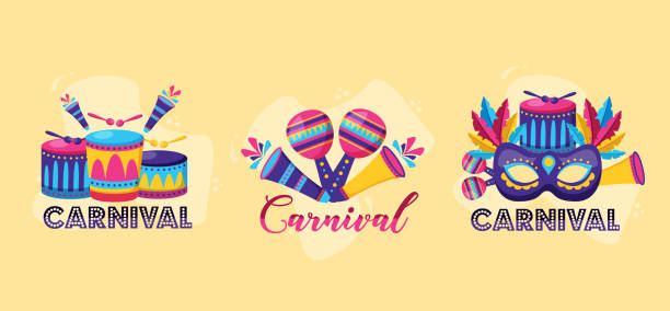 carnival festive celebration vector art illustration