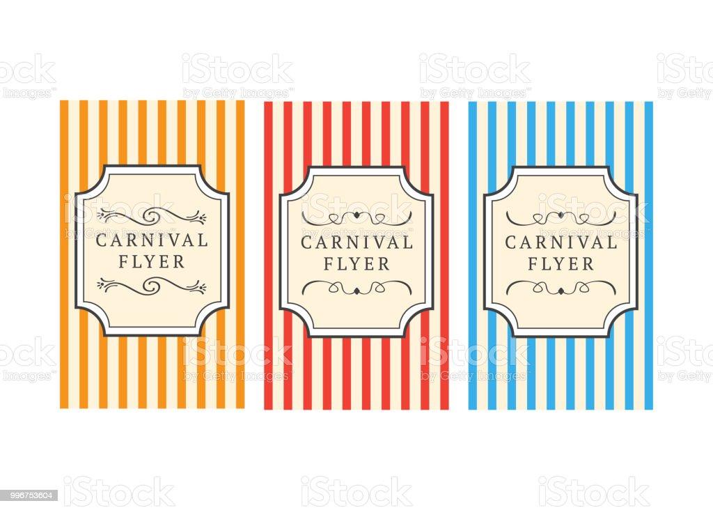 carnival flyer template carnival vintage sign carnival vector