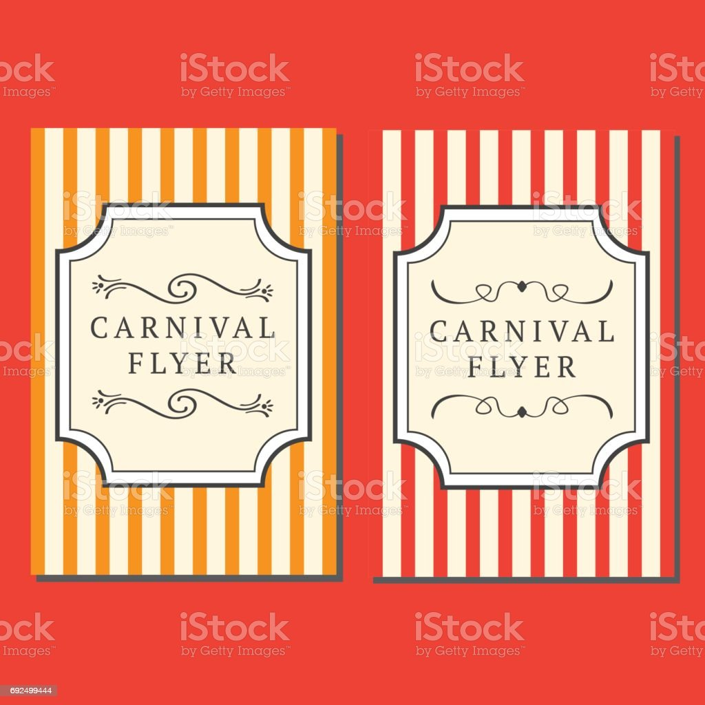 carnival flyer template stock vector art 692499444 istock