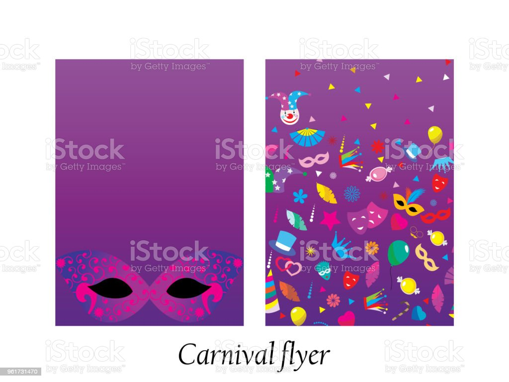 carnival flyers stock vector art more images of no people