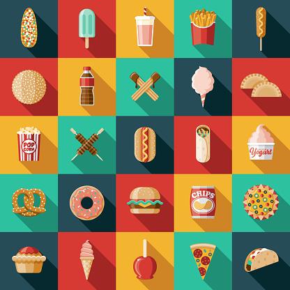 Carnival Food Icon Set