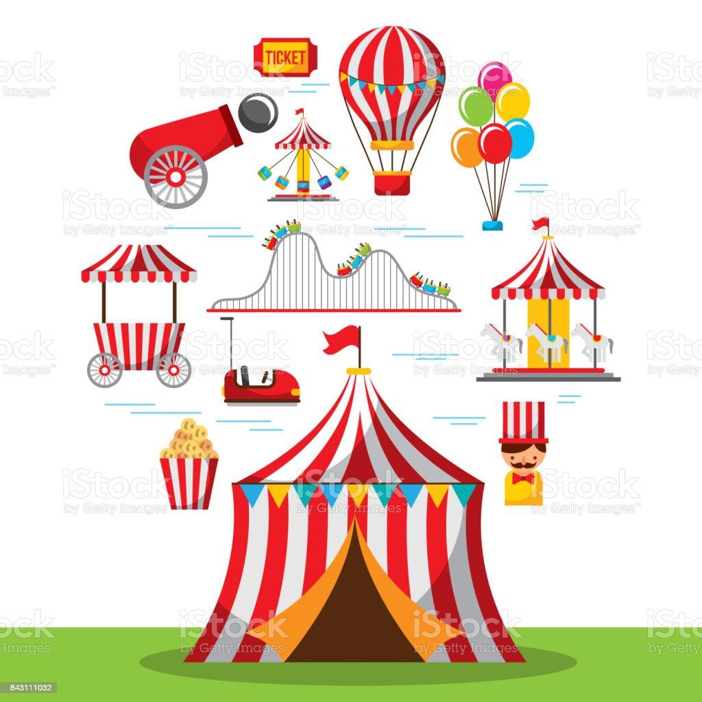 Parc De Cirque Festival Carnival Fete Foraine Vecteurs Libres De Droits Et Plus D Images Vectorielles De Arts Culture Et Spectacles Istock