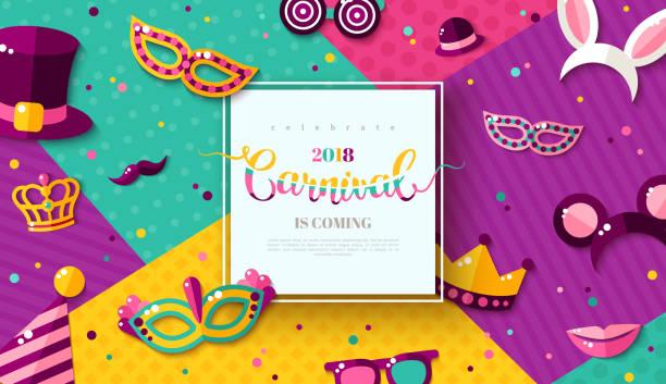 ilustrações, clipart, desenhos animados e ícones de cartão do parque de diversões de carnaval - carnaval