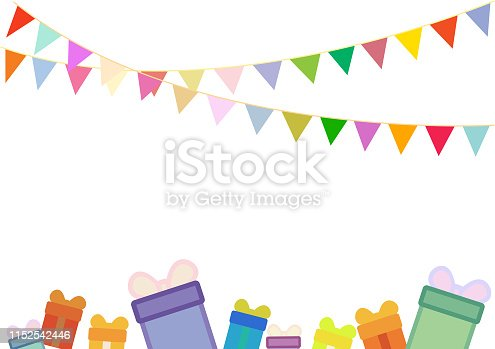 istock Carnival garland with flags 1152542446