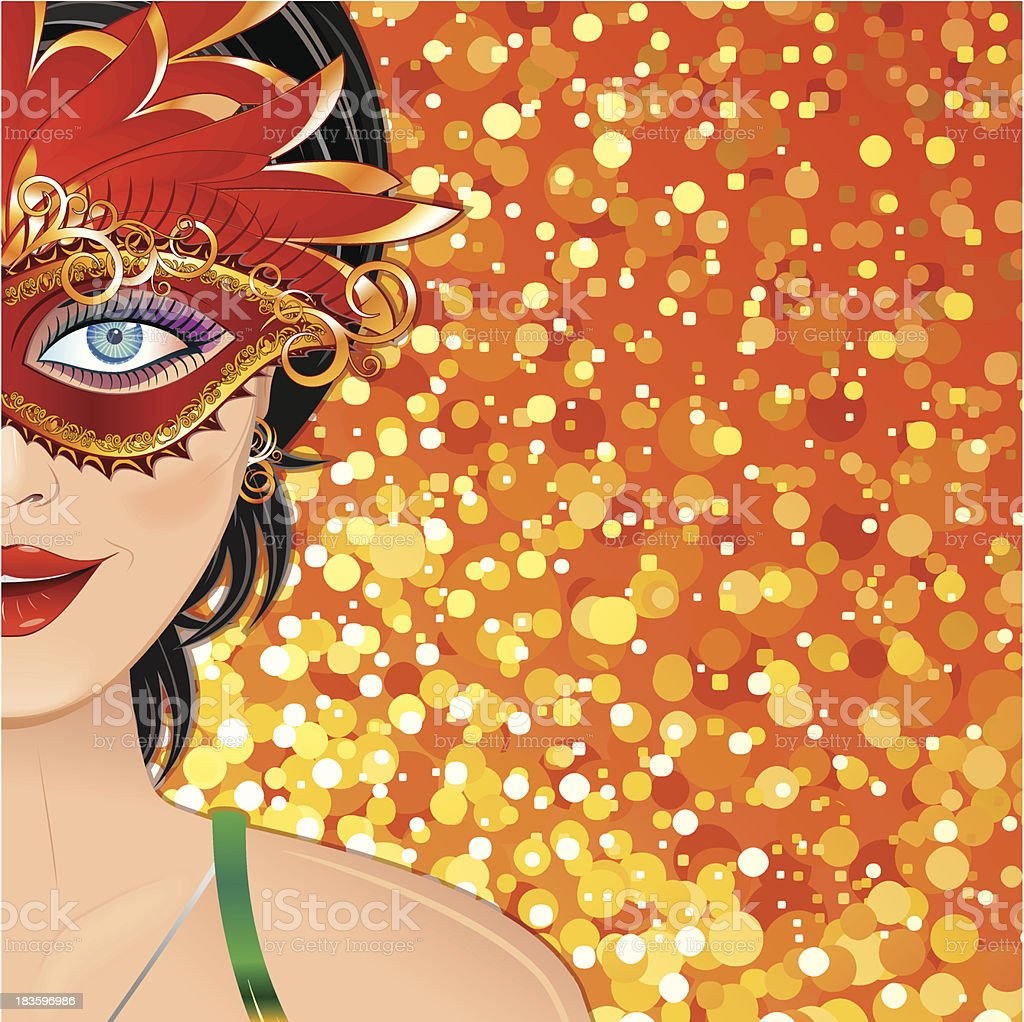 Carnival Girl Background royalty-free stock vector art