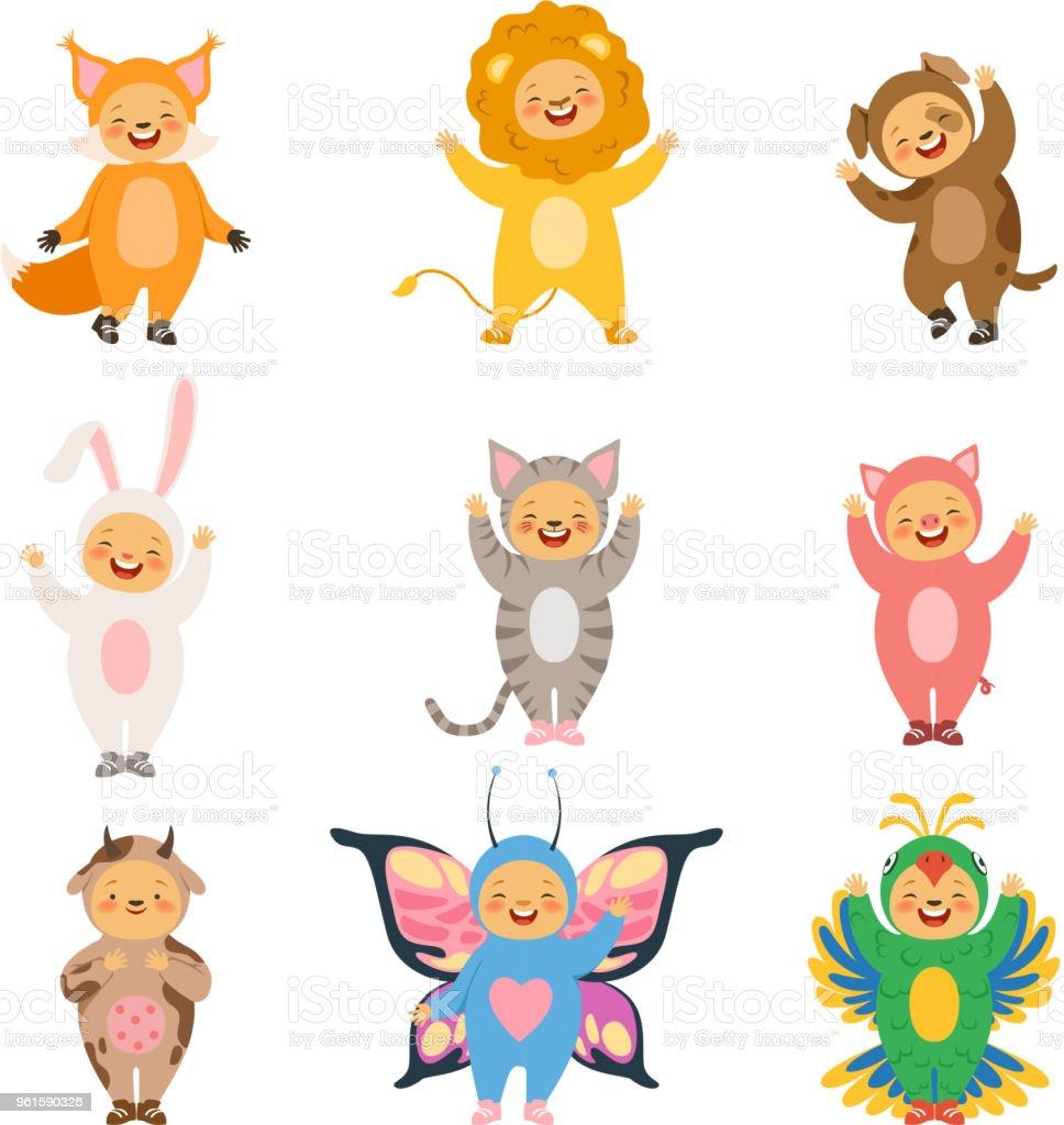 カーニバルは子供服です面白い漫画の動物の衣装 - アナウサギのベクター